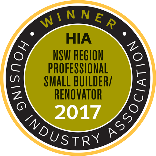 HIA NSW Region Professional Small Builder/Renovator 2017
